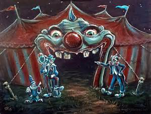 creepy circus clowns