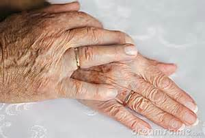 older couple's hands